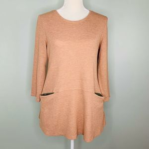 LOGO Lori Goldstein Shirt Thermal Peach Medium M